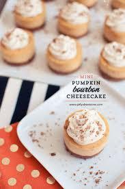 Libbys Marbled Pumpkin Cheesecake Recipe by Mini Pumpkin Bourbon Cheesecakes With Brown Sugar And Bourbon