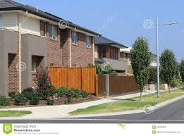 100 Modern Homes Melbourne Suburban Street With Houses Stock Image Image Of