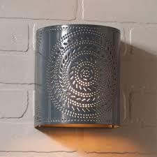Punched Tin Lamp Shade Country by Lamps Lighting Ceiling Fans Men