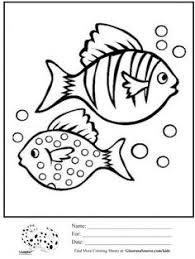 Coloring Pages Fish Bubbles