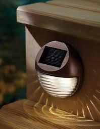 moonrays 95027 solar deck light wall mount sconce patio