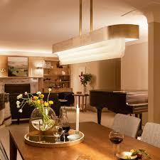 Serene LED Linear Chandelier Natural Brass Kichler Lighting