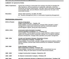 Free Construction Resume Templates Samples Examples