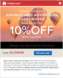 Hotels.com 10% Off Hotel Stay, Book By Mar 8, Stay By Apr 30 ...