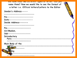 7 informal letter format cbse