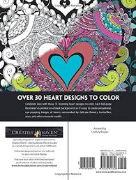 Amazon Creative Haven Hearts Coloring Book Romantic Designs On A Dramatic Black Background Adult 0800759809325 Lindsey Boylan Books