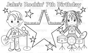 PRINTABLE Personalized Rockstar Diva Placemat Childrens