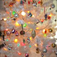 Our Mod Fiberglass Tree Was Reworked With Late 60s Plastic Diamonds And Starbursts As