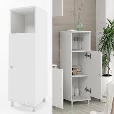 vicco badschrank fynn 95 x 30 cm weiß midischrank badezimmerschrank badmöbel schrank regal badregal