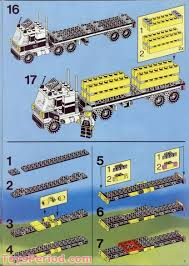 100 Lego Truck Instructions LEGO 6393 Big Rig Stop Set Parts Inventory And