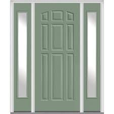 MMI Door 64 5 in x 81 75 in 9 Panel Painted Fiberglass Smooth