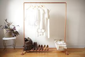 Gold Clothing Rack Astonishing Copper Pipe Garment Clothes By ShopTheOther Living Room