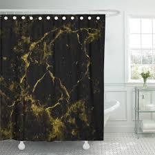 pkqwtm golden gold schwarz marmor badezimmer dekor bad duschvorhang 165x180 cm
