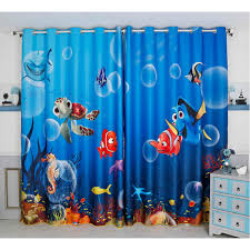 Printed Finding Nemo Characters Blackout Curtains