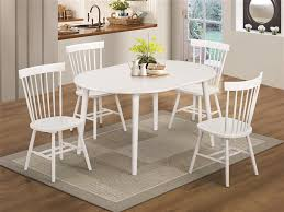 emmett 5 piece oval dining table set by coaster 103071
