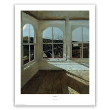 Master Bedroom Andrew Wyeth Dog On Bed Print Beautifully Matted And