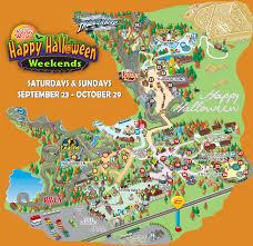 Halloween Haunt Worlds Of Fun Map by Holiday World U0026 Splashin U0027 Safari Park Map