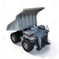 Large Haul Truck Ready For Big Job In A Mine. On White Background ...