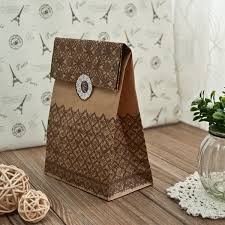 Vintage Lace Wedding Favors Paper Bags With Seal EWFB085