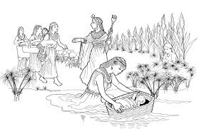 Moses Coloring Pages And Pharaohs Daughter