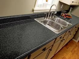 small kitchen design and decoration using black granite porcelain