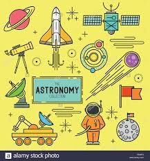 Astronomy Vector Icon Set A collection of space themed line icons