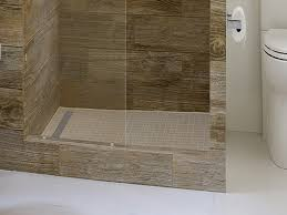 bathroom tile redi single curb shower pan with integrated center