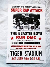 Beastie Boys RUN DMC Detroit Rap Attack Concert Poster Print