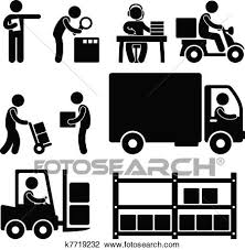 Clipart Of Logistic Warehouse Delivery Icon K7719232