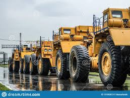 100 Large Dump Trucks Parking Close Up Stock Image Image Of