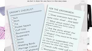 Wedding Planner Checklist Grooms Parents