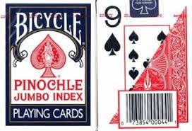 deck pinochle 4 player magnifying aids print pinochle cards large 2