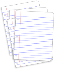 Lined paper messy papers clipart clipartfest bun