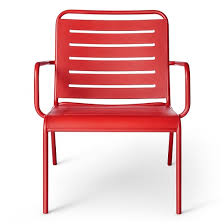Slingback Patio Chairs Target by Metal Deep Seat Patio Chair Red Room Essentials Target