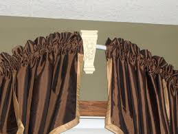 Curved Curtain Rod For Arched Window Treatments by Bathroom White Curved Shower Curtain Rod With Brown Curtain For