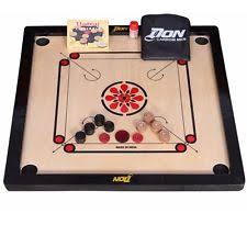 Carrom Board Game Coins Striker Rosewood Set Size 33 X 33Inch
