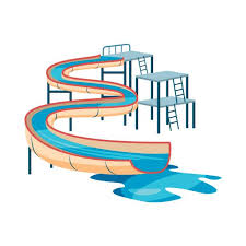 Waterslide In Pool Icon Cartoon Style Stock Vector Art More Images Of 699133546