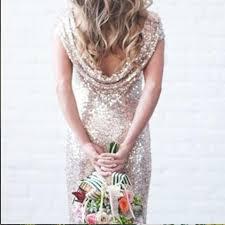 Cap Sleeve Bridesmaid Dresses Floor Length by Wholesale 2016 Bling Sequins High Neck Cap Sleeve Long Bridesmaid