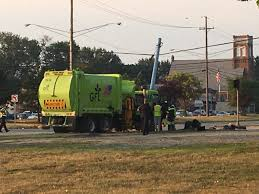 100 Garbage Truck Accident Slams Into Pole Along Mound Road Driver Killed WWJ