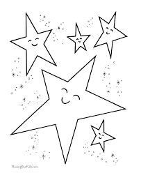 Stars Preschool Coloring Pages