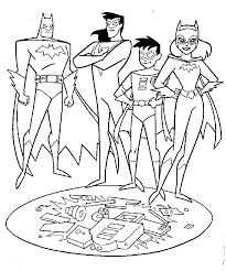 Batman And Robin Coloring Page1 Pages