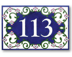 house numbers plate address plaque house numbers sign