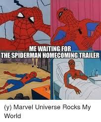 Spiderman Behind Desk Meme by 25 Best Memes About Spiderman Homecoming Trailer Spiderman