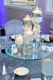 Floating Candle Wedding Centerpieces With Cylinder Vases