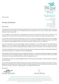 Letter to Members