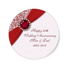 53 best Ruby Wedding Anniversary images on Pinterest
