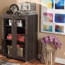 Baxton Shoe Cabinet Canada by Baxton Studio Winda Dark Brown Wood Wide Storage Cabinet 28862