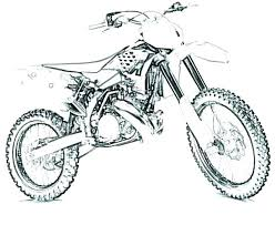 Dirt Bike Coloring Pages Printable Motocross Pictures Of Bikes To Color