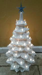 Clear Bulbs For Ceramic Christmas Tree by Vintage White Ceramic Christmas Tree With Modern Clear Bulbs