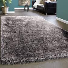 edler teppich shaggy hochflor einfarbig flauschig glänzend